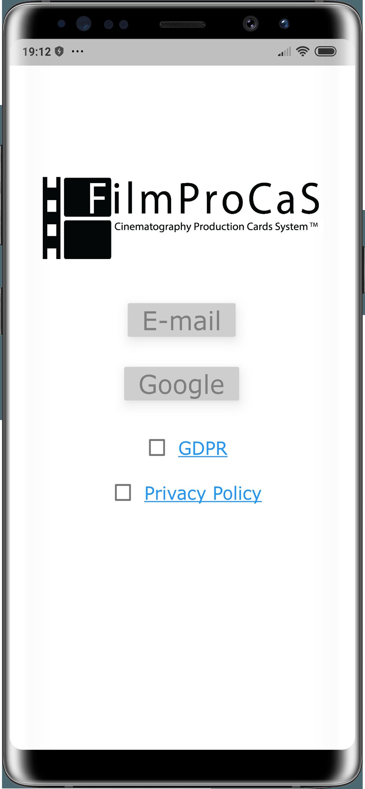 FilmProCaS  Cinematography Production Cards System